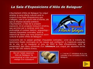 La Sala d'Exposicions d'Alòs de Balaguer