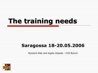 The training needs