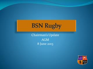 Chairman ' s Update AGM 8 June 2013