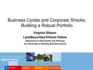 Business Cycles and Corporate Shocks: Building a Robust Portfolio