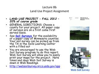 Lecture 8b Land Use Project Assignment