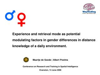 Experience and retrieval mode as potential modulating factors in gender differences in distance knowledge of a daily env