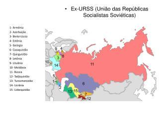 Ex-URSS (Uni�o das Rep�blicas Socialistas Sovi�ticas)