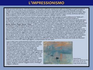 L�IMPRESSIONISMO