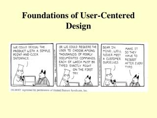 Foundations of User-Centered Design