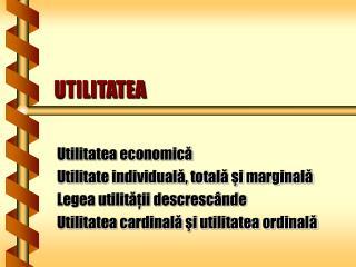 UTILITATEA