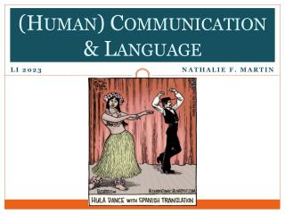 (Human) Communication & Language