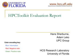 HPCToolkit Evaluation Report