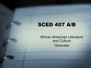 SCED 407 A/B