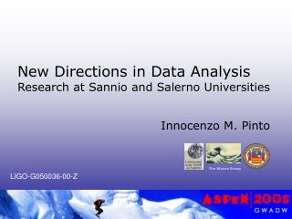 New Directions in Data Analysis  Research at Sannio and Salerno Universities