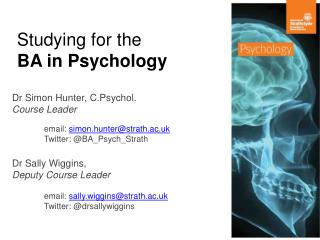 Studying for the  BA in Psychology