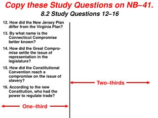 Copy these Study Questions on NB�41.
