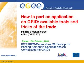 How to port an application on GRID: available tools and tricks of the trade