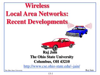 Wireless  Local Area Networks:  Recent Developments
