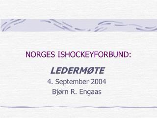 NORGES ISHOCKEYFORBUND: