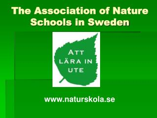 The Association of Nature  Schools  in Sweden