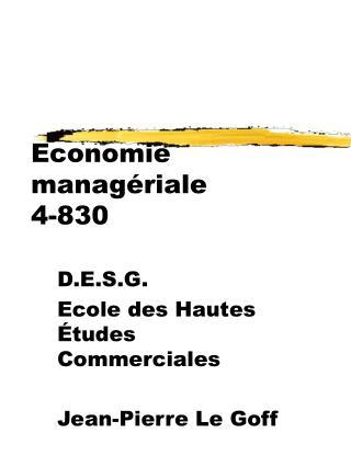 Economie managériale 4-830