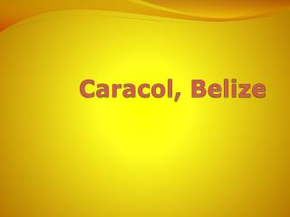 Caracol , Belize