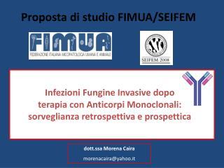 Proposta di studio FIMUA/SEIFEM