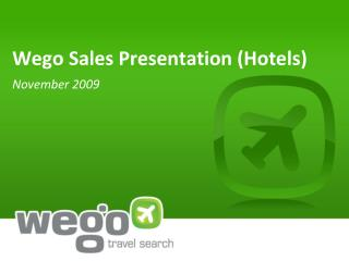 Wego Sales Presentation (Hotels)