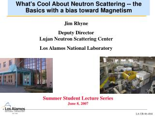 What's Cool About Neutron Scattering -- the Basics with a bias toward Magnetism