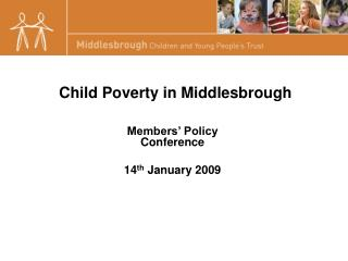 Child Poverty in Middlesbrough
