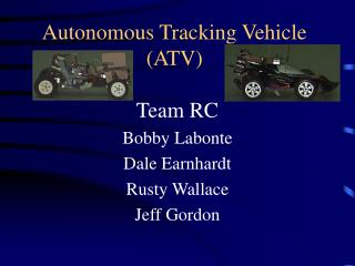 Autonomous Tracking Vehicle (ATV)