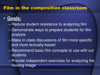 Film in the composition classroom
