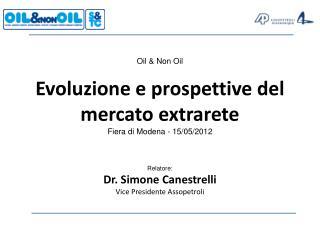 Oil & Non Oil Evoluzione e prospettive del mercato extrarete Fiera di Modena - 15/05/2012
