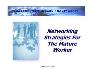 Networking Strategies For The Mature Worker