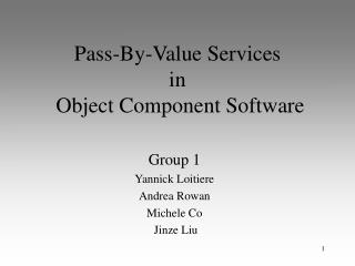 Pass-By-Value Services  in  Object Component Software