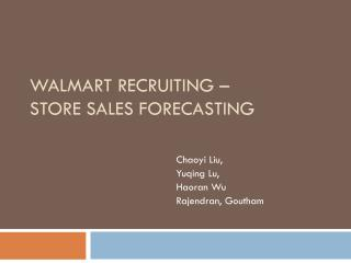 Walmart Recruiting  –  Store  Sales Forecasting