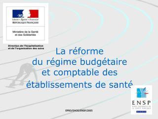 La réforme   du régime budgétaire  et comptable des établissements de santé
