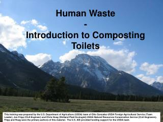 Human Waste -  Introduction to Composting Toilets
