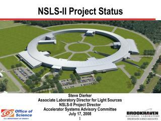 NSLS-II Project Status