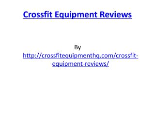 Crossfit Equipment Reviews