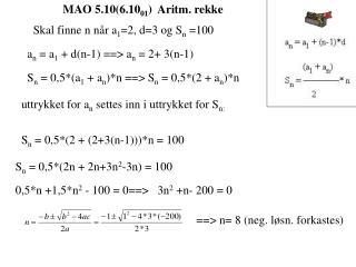 MAO 5.10(6.10 01 )  Aritm. rekke