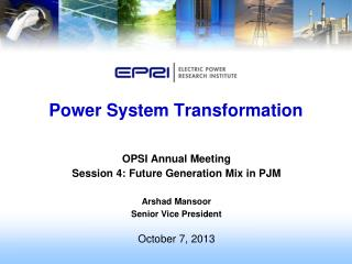 Power System Transformation