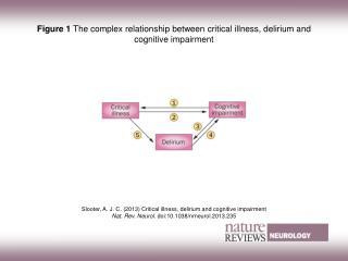 Figure 1  The complex relationship between critical illness, delirium and cognitive impairment