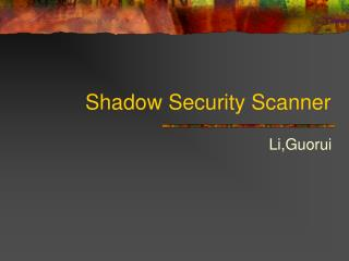 Shadow Security Scanner