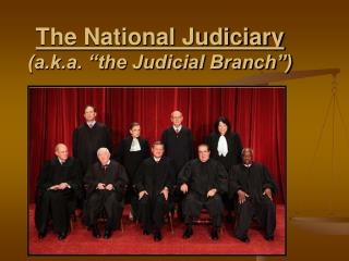 "The National Judiciary (a.k.a. ""the Judicial Branch"")"