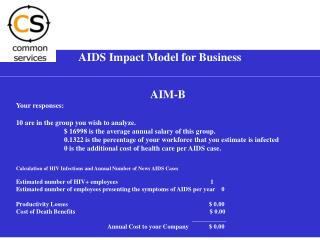 AIDS Impact Model for Business