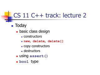 CS 11 C++ track: lecture 2