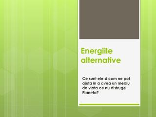 Energiile alternative