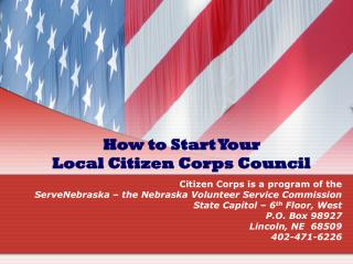 How to Start Your  Local Citizen Corps Council