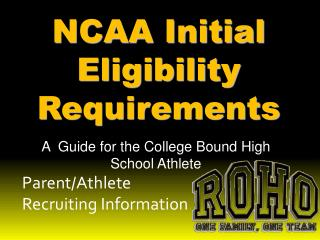 Parent/Athlete Recruiting Information