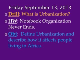 Friday September 13,  2013