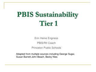 PBIS Sustainability                Tier 1