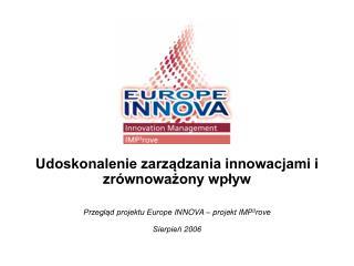 Udoskonalenie zarządzania innowacjami i zrównoważony wpływ