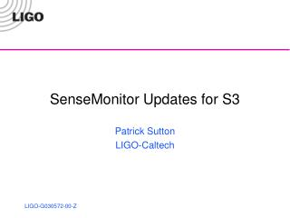 SenseMonitor Updates for S3